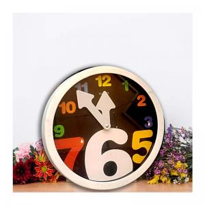 white-letter-round-wall-clock - wall-clocks